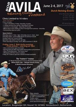 BOB AVILA Reining clinic & Weekend